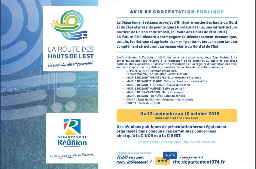 Route des Hauts de l'Est : concertation du 12 Septembre au 10 Octobre