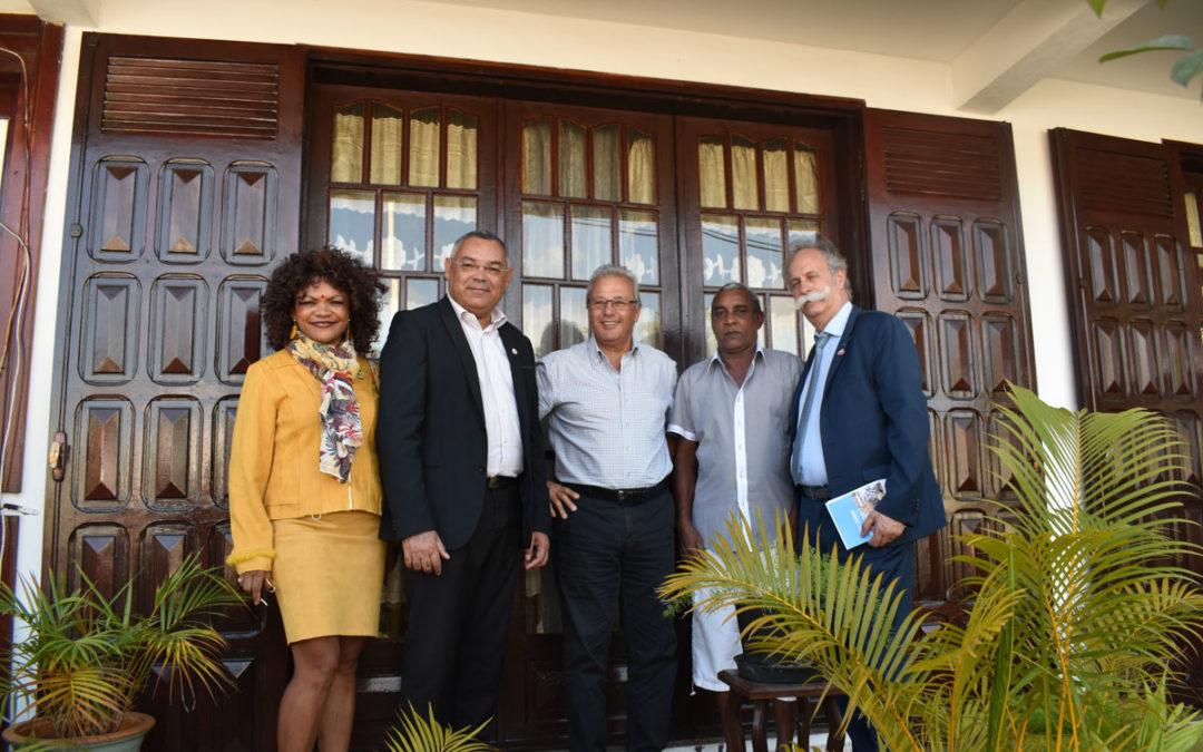 Visite des Présidents de la Chambre de Métiers, de la Réunion et de France, à Sainte-Suzanne