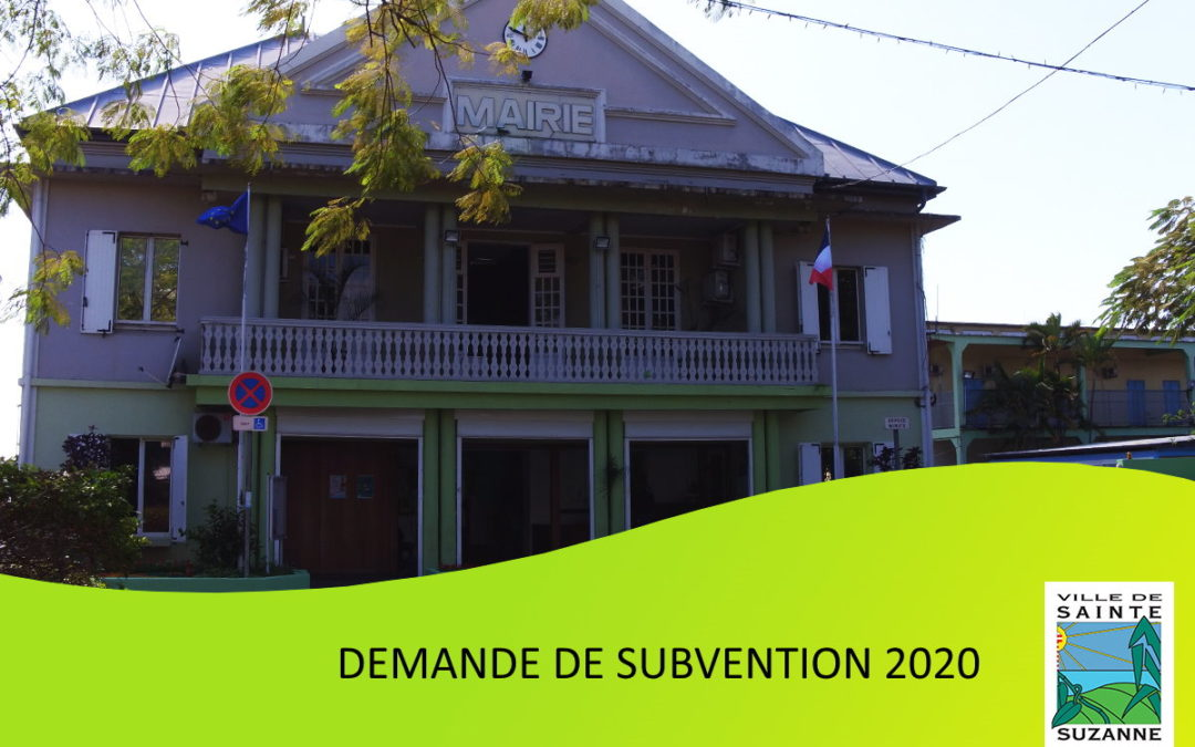 Demande de subvention 2020
