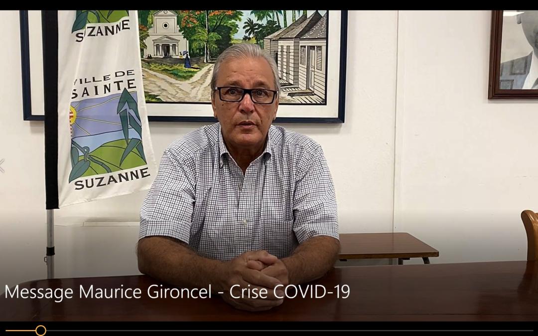 COVID-19: Message vidéo de Maurice GIRONCEL