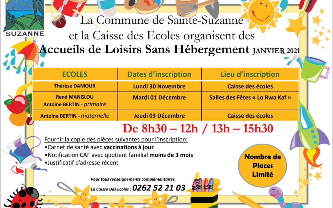 La Commune de Sainte-Suzanne et la Caisse des Ecoles organisent des Accueils de Loisirs Sans Hébergement