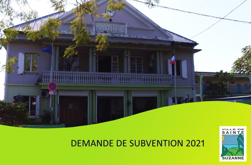 Demande de subvention 2021
