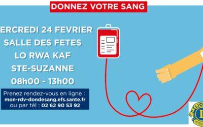 Soyons solidaire en participant à la collecte de sang