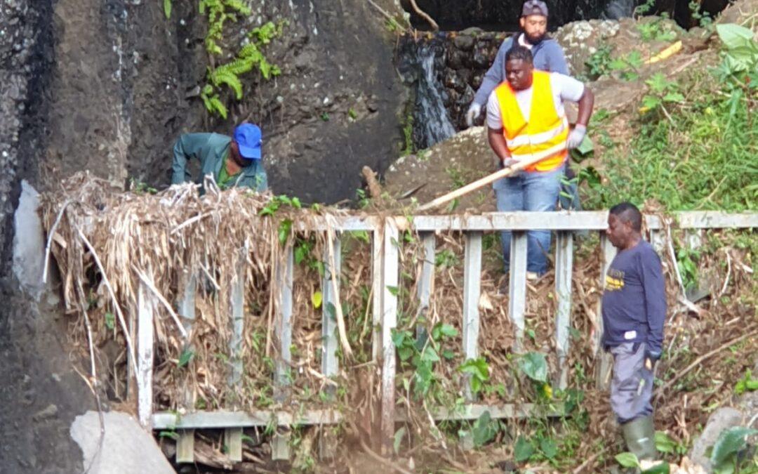 Les agents PEC LAV du centre-ville mènent un travail de fond sur les ravines urbaines
